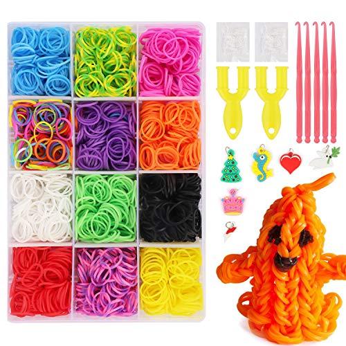 JWTOYZ Loom Bänder Set Box, Loom Bänder Set Rainbow Gummibänder (Small)