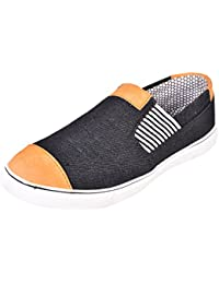 Essence Boys Black Slip-on Casual Shoes