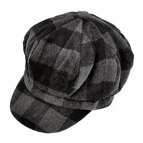 Béret/Chapeau de vendeurs de journaux/Chapeau à la mode imprimés écossais en laine de style neutre et classique de ZLYC
