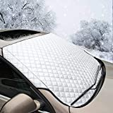 SmashingDealsDirect® Snow Ice Frost Sun UV Dust Water Resistant Heavy Duty Ultra Thick Protective Windscreen Cover Car Windshield Cover for Cars SUVs All Seasons Summer & Winter