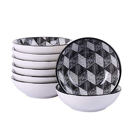 (Vancasso Aoki Porzellan Dipschälchen, 8-teilig Dipschalen Set, Saucen Soße Snack Schalen)