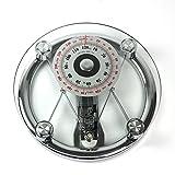 OUKANING Pèse-personne mécanique en verre Capacité 120 kg