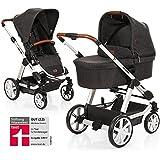 ABC Design Condor 4 - Kombikinderwagen - 2in1 Kinderwagen Set - inkl. Babywanne für Neugeborene & Buggy, Sportwagen ab ca. 6 Monate