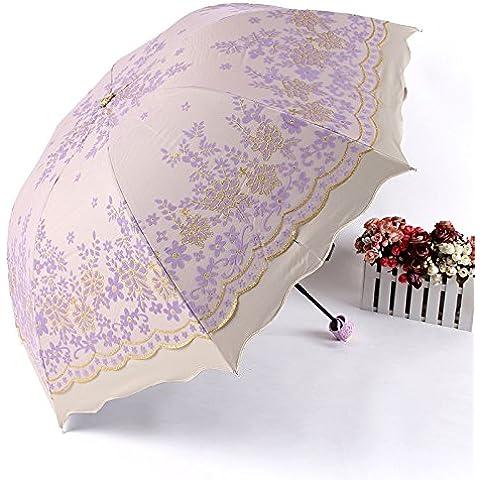 Paraguas Uv Barómetro de triple plegado