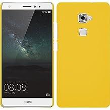 Funda Rígida para Huawei Mate S - goma amarillo - Cover PhoneNatic Cubierta + protector de pantalla