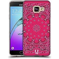 Head Case Designs Classique Rose Bandana Cachemire Classique Étui Coque en Gel molle pour Samsung Galaxy A3 (2016)