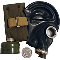 GP-5 - Máscara de gas (goma, tallas 0,1,2,3,4), diseño soviético, color negro