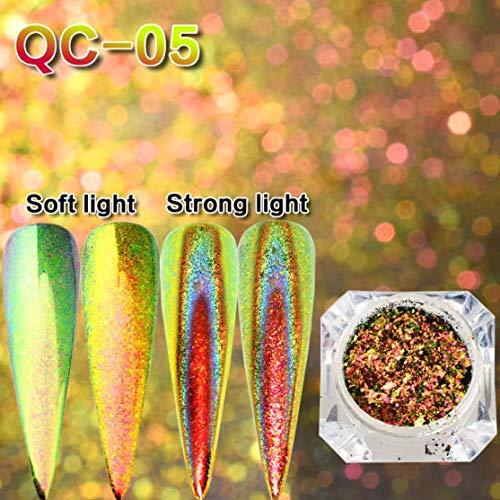 Nagel Glitter Nail Art Pigment Feuerwerk Effekt Pailletten Nagel Flocken Spiegel Pulver Nagelspitze Pailletten Mädchen Nagel Werkzeug -