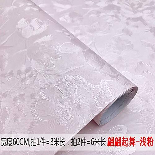 lsaiyy wasserdichte dekorative Wandaufkleber 3D Selbstklebende warme Schlafzimmerwohnzimmerhintergrund-Wandtapete 60CMX3M -