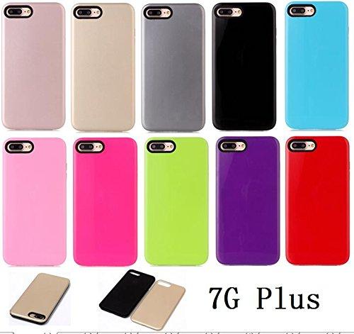iPhone Case Cover Housse de protection IPhone 7 Plus, Housse de protection rigide en plastique solide pour Apple IPhone 7 Plus ( Color : Gold , Size : IPhone 7 Plus ) Green