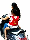 #4: SI Kids Safety Belt For Two Wheeler Front And Back Sitting Puppy Design Red