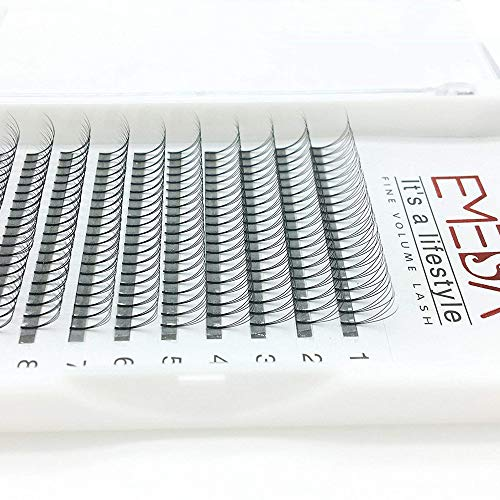 Emeda d curl 0.10 2 vassoi volume ciglia 3d w individuali ciglia estensioni miglior naturale ciglia estensioni professionali lunghezza 12 / 14mm …