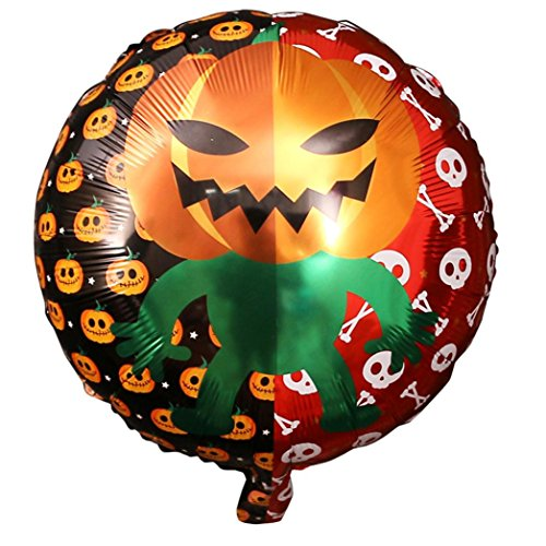 Upxiang 18 Zoll 10 PCS Halloween-Kürbis-Film-Ballon, Halloween-Feiertagsdekoration, Halloween-Aluminiumfilm-Ballon (B) (Kürbis Von Film Halloween)