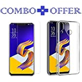 Sanguine Tempered Glass & Back Cover Best Quality [Combo Transparent] Perfact Fit Back Case Cover For Asus Zenfone 5z Zs620KL
