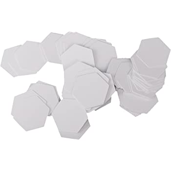 MagiDeal 100 Stück Hexagon Englisch Papier Stückung Steppvorlagen ...