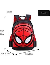 Preisvergleich für XIAOMIN Spiderman Kinderrucksack Schwarz/Himmelblau/Königsblau. Spiderman 3D Junior Rucksack