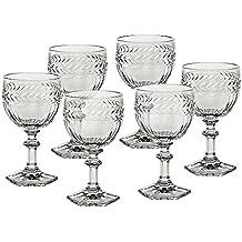6 x Weinglas, Weinkelch, Roseglas MISS DESIREE 200ml, transparent, Bleikristall Glas (GERMAN CRYSTAL powered by CRISTALICA)