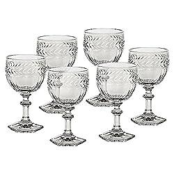 6 X Weinglas Weinkelch Roseglas Miss Desiree 200 ml Transparent Kristallglas