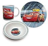 Disney Cars Keramik Frühstücks-Set Geschirr 3-tlg.