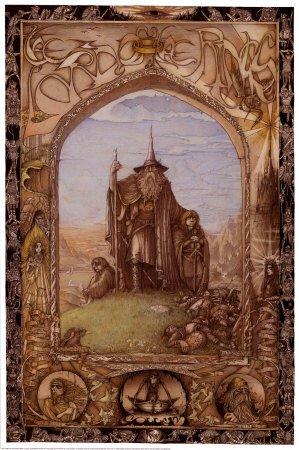 Herr-der-Ringe-Gandalf-WHobbits-Art-Maxi-Poster-Druck-61-x-91-cm