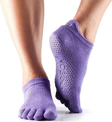 Damen 1 Paar ToeSox Low Rise Ganz Toe Organic Cotton Socken Light Purple 6-8,5