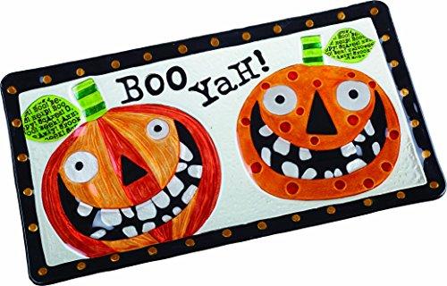 een Halloween-Kürbislaterne Platte, Orange, Schwarz, 38,1cm L x 20,3cm W x 2,5cm H ()