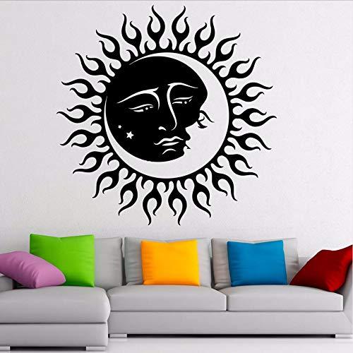 Waofe Lune Soleil Art Design Stickers Muraux Décor Pour Enfants Chambre Vinyle Stickers Muraux Décoration Accessoires 57 * 57 Cm