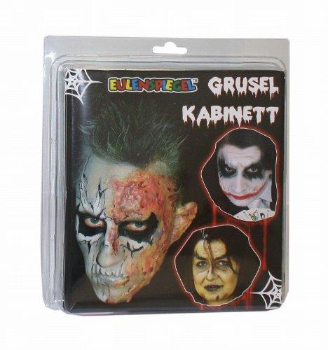set Grusel Kabinett, 17 teiliges Set (Halloween Farbe Auf Gesicht)