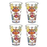 """4 Gläser """"Eule"""" als Wasserglas, Saftglas, Longdrinkglas - Geschenkideen"""