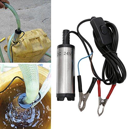 Huijun flintronic 12V /24V38mm Ölpumpe Wasser Pumpe, Öl Diesel Heizöl Wasser Tauchpumpe Treibstoff Transfer Zigarettenanzünder für Auto, KFZ, Caravan, Marine Boot (24V) - Auto-priming Tool
