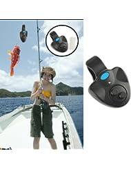 Hrph Electronic poisson mordre Finder alarme LED cloche cloche sur la canne à pêche noir
