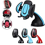 #7: Shipmate Premium Universal Mobile Phone Car Mount Holder Cradle 360° Rotable Holder Secure Cell Phone Stand With Strong Suction Grip (Blue)