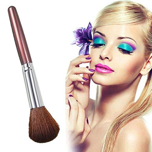 Kit De Pinceau Maquillage Professionnelfond De Teint Doux Visage Poudre Fond Blush Pinceau Maquillage Outil CosméTique Pinceau à LèVre avec Sac Nois