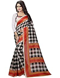 Macube Women's Latest Multi Color Designer German Silk Sarees New Collection 2017 Today Low Price Saree With Blouse...
