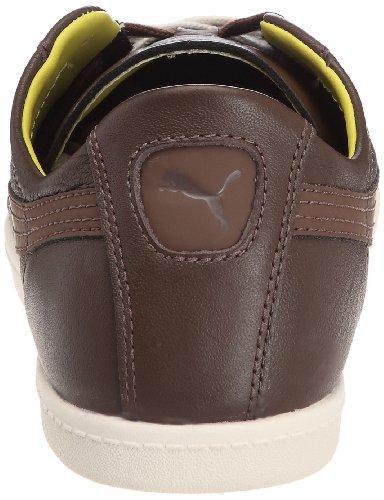 Puma Glyde Leather Low, Baskets mode mixte adulte Marron (1)