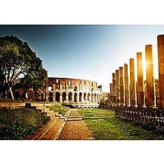 Idea Regalo - Carta da parati non tessuta- PREMIUM PLUS - 300x210cm - Fotomurali Immagine Roma Colosseo Italia italia variocolor landscape architecture - no. 0052