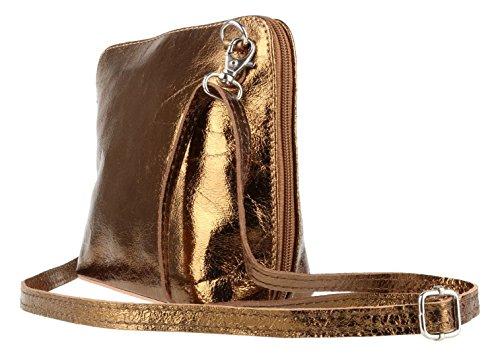 Elegant, Borsa a tracolla donna Metalic Copper