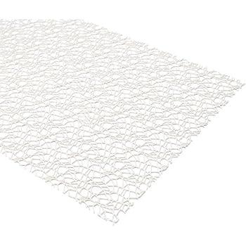 Tischläufer Netzoptik weiß 48cm x 4,5m Dekoband Uni mit Crash Netz Optik