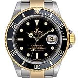 Rolex 16613 Submariner Date - Esfera (Acero y Oro), Color Negro