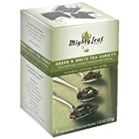 Mightly Leaf Tea Green White Variety Tea 15 Bag -Pack of 6