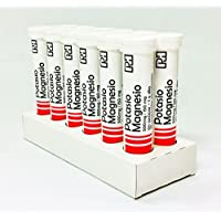 Pack POTASIO MAGNESIO PH 500 mg/150 mg. 12 Tubos de 20 comprimidos efervescentes
