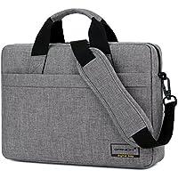 Brinch Maletín de portátil de 15.6 Pulgadas Estilo de Negocios para Ordenador portátil con Funda de Espuma para Ordenador portátil de 15-15.6 Pulgadas/Ordenador portátil/MacBook,Gris