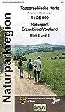 Naturpark Erzgebirge /Vogtland. Naturparkkarte 1:25000, NP25 Blatt 5/6 (Doppelblatt), Mittleres Erzgebirge: Marienberg, Lengefeld, Olbernhau, Seiffen, Frauenstein, Hermsdorf/ Erzgeb.