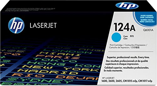 HP 124A (Q6001A) Blau Original Toner für HP Color Laserjet 2600, 2605,...
