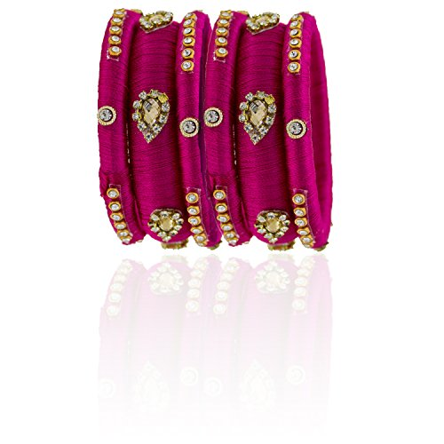 YouBella Traditional Bridal Jewellery Thread Style Chura /Chuda Bangles Jewellery for Women and Girls (2.4)