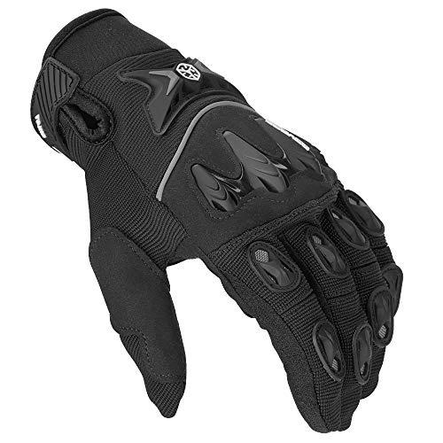 Motorrad Handschuhe Fahrrad Handschuhe Perfekt Anti Rutsch Vollfinger Handschuhe Atmungsaktiv Sport Handschuhe Motorradfahren Handschuhe für Mountainbike, Motorcross, Radfahren Schwarz L