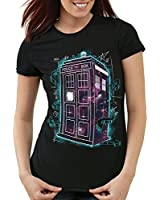 style3 Who Space Box T-Shirt Femme dalek dr police doctor