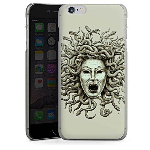 Apple iPhone X Silikon Hülle Case Schutzhülle Medusa Schlangen Frau Hard Case anthrazit-klar
