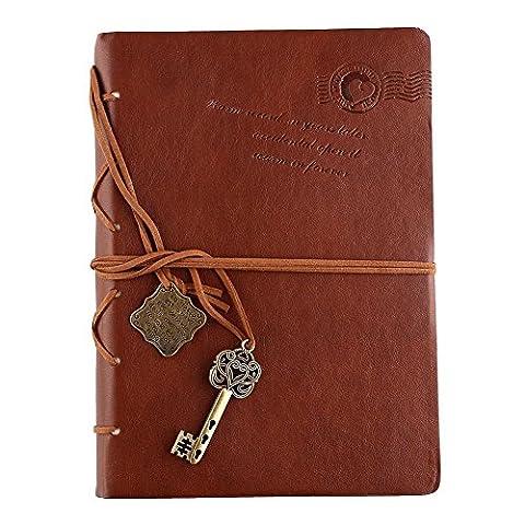 Journal Carnet Cahier En PU Cuir