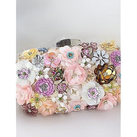 Da Wu Jia Ladies borsetta di alta qualità di lusso di seta donne paillettes 3D Flower formale / evento/parte / Handmade nozze personalizzati Borsa serale , il colore dello schermo